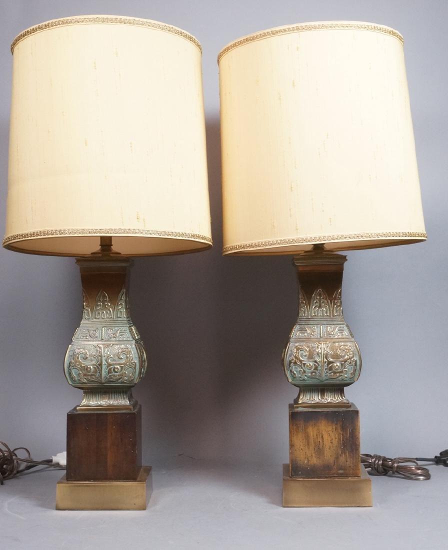 Pr Metal Tribal Design Table Lamp Square Platform