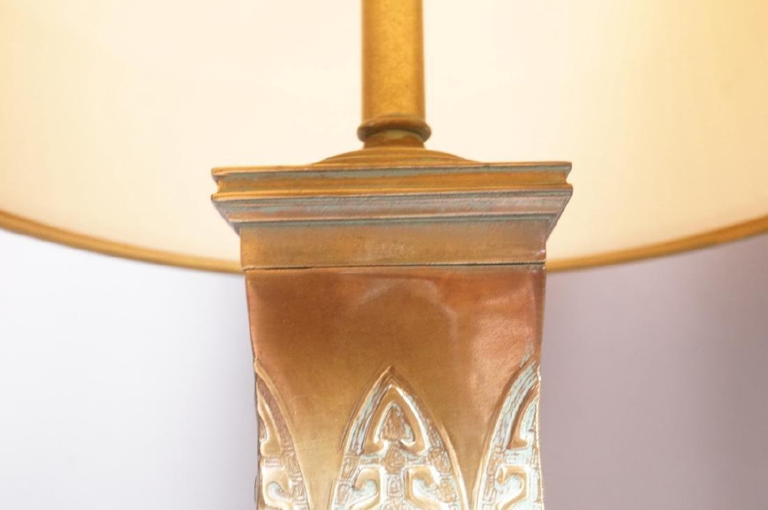 Pr Metal Tribal Design Table Lamp Square Platform - 3