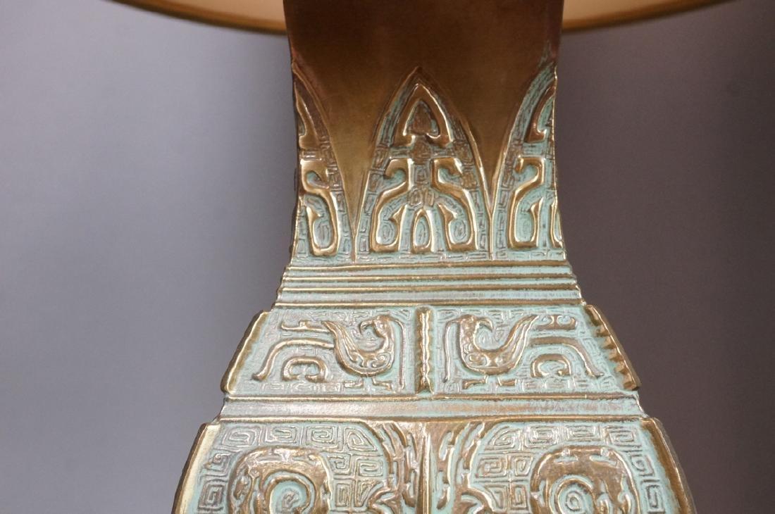 Pr Metal Tribal Design Table Lamp Square Platform - 4