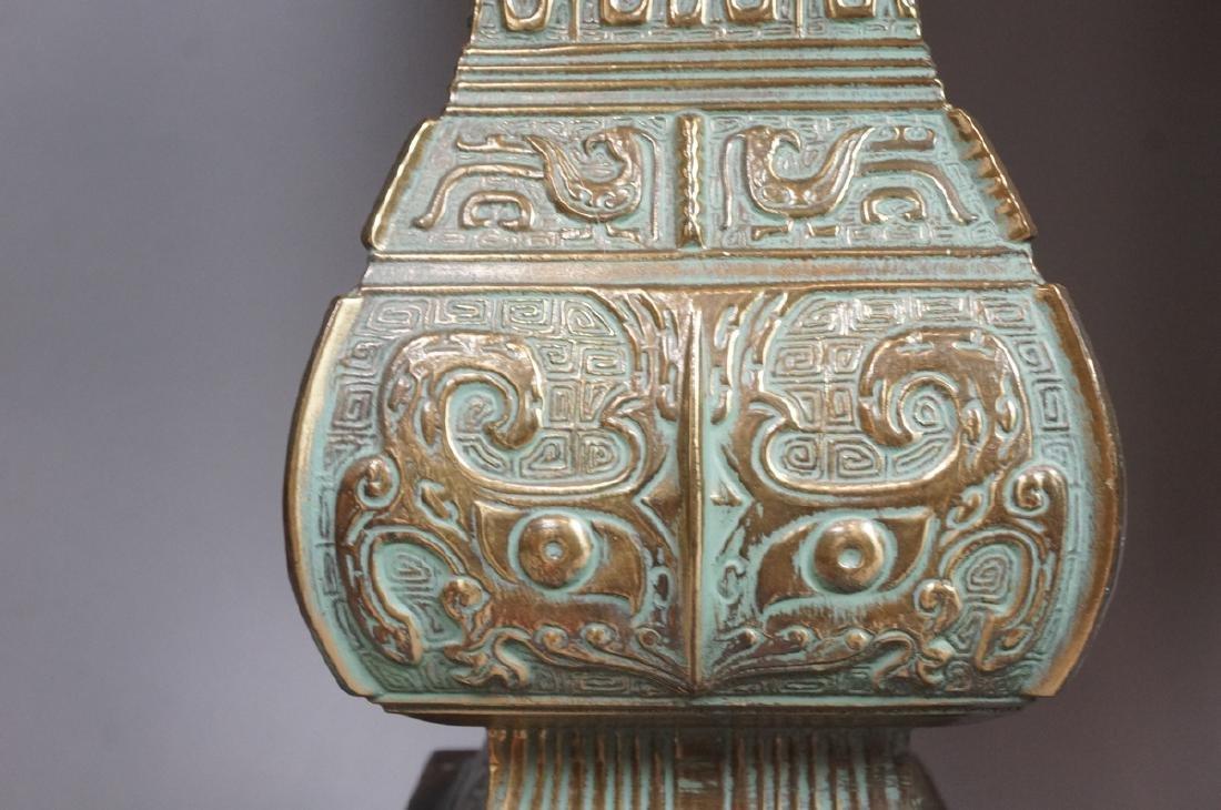 Pr Metal Tribal Design Table Lamp Square Platform - 5