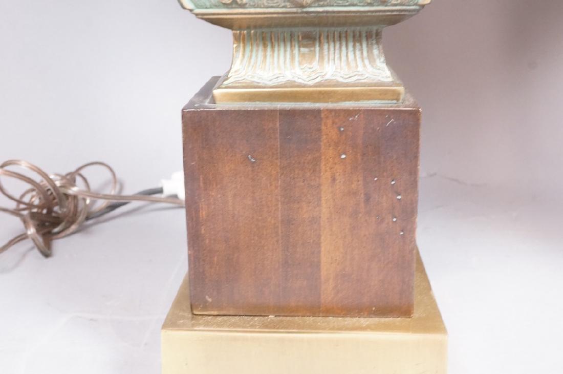 Pr Metal Tribal Design Table Lamp Square Platform - 6
