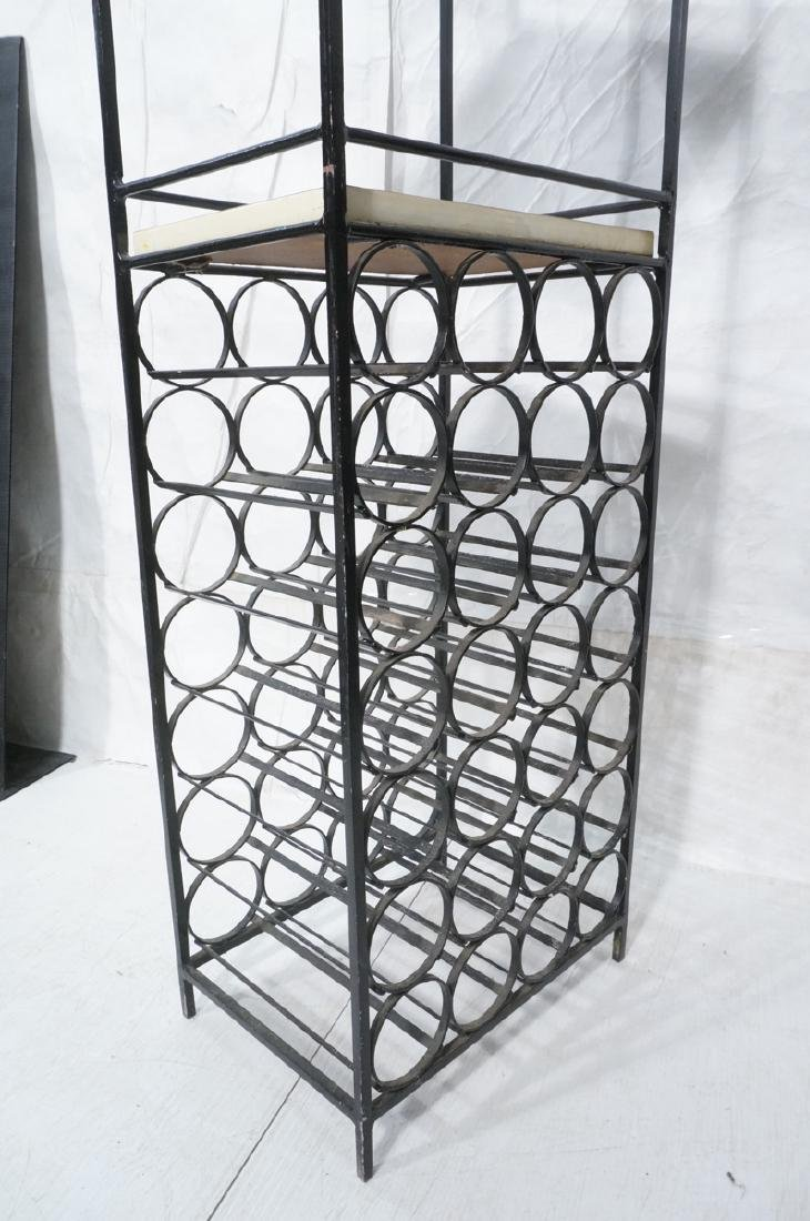 Black Metal Wine Rack. Arch form with 2 wine rack - 9