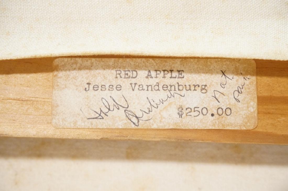"JESSE VANDENBURG ""Red Apple"" Oil Painting. Still - 2"