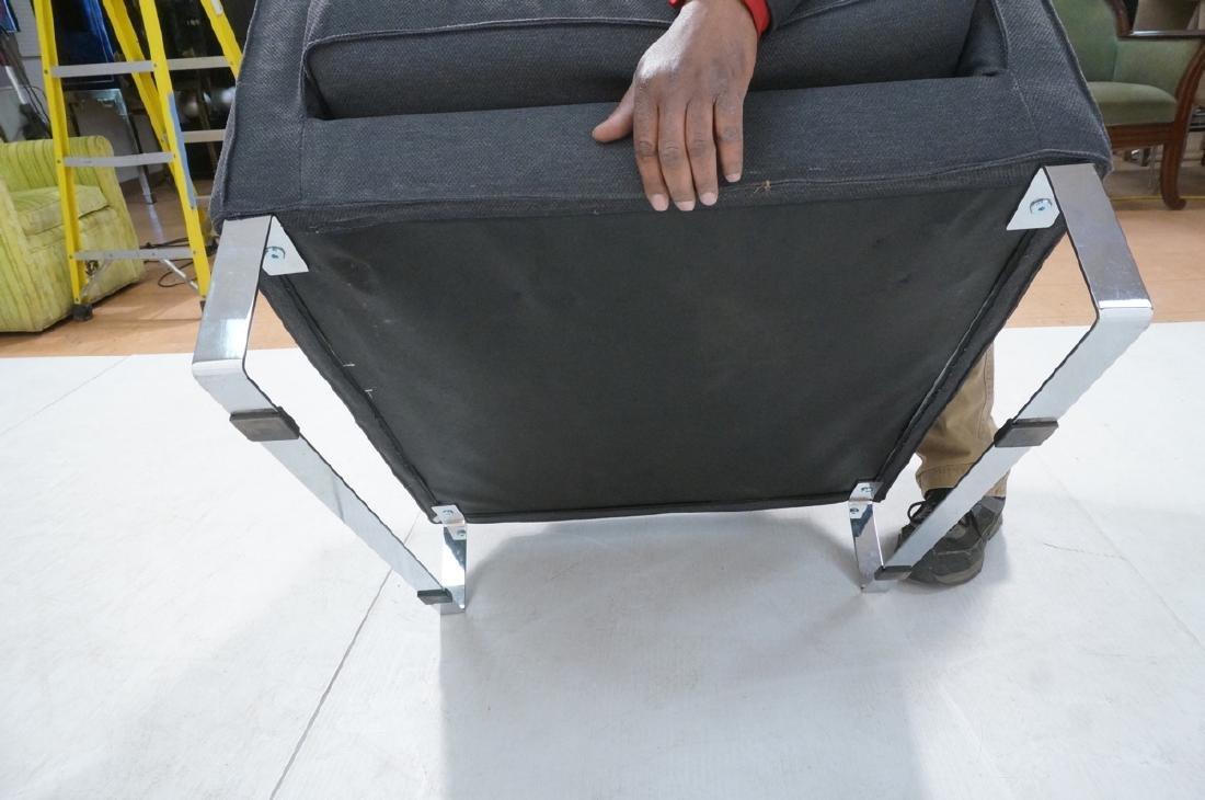 Pr Gray Tweed Chrome Leg Lounge Chairs. Thin flat - 8