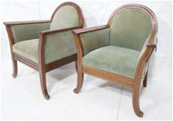 Pr Swedish Art Deco Style Wood frame Lounge Chair