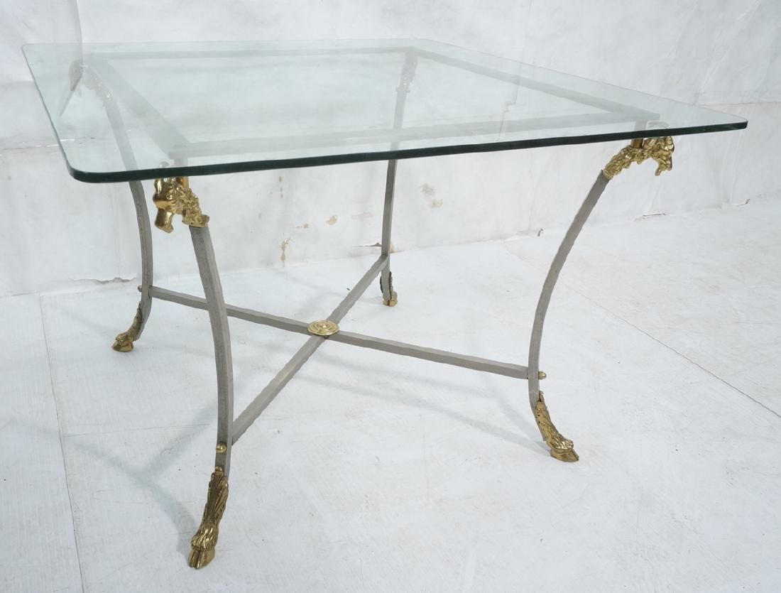 Regency Style Stainless Brass Occasional Table. S