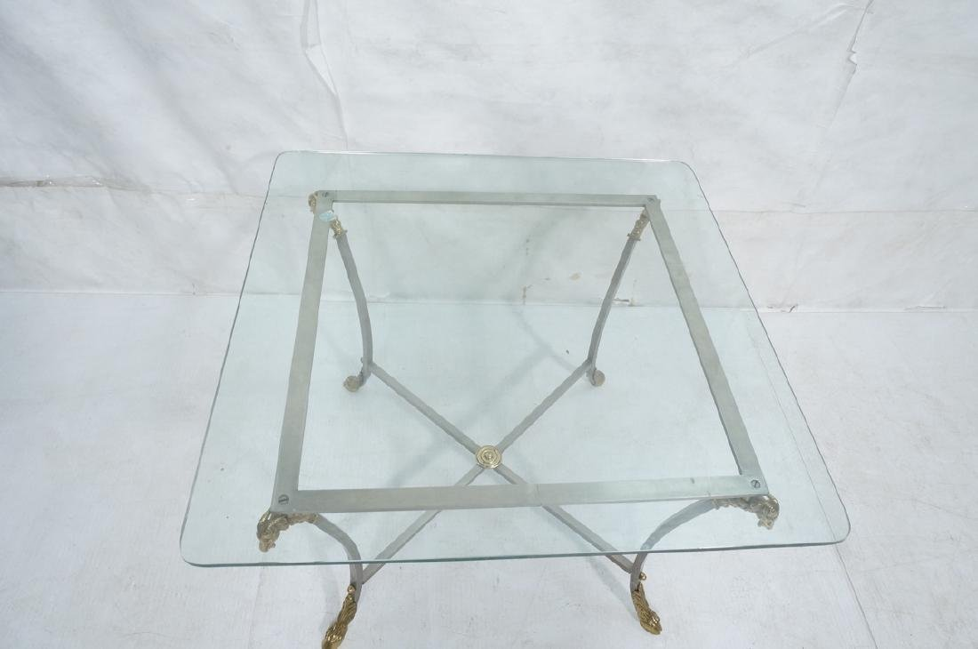 Regency Style Stainless Brass Occasional Table. S - 4