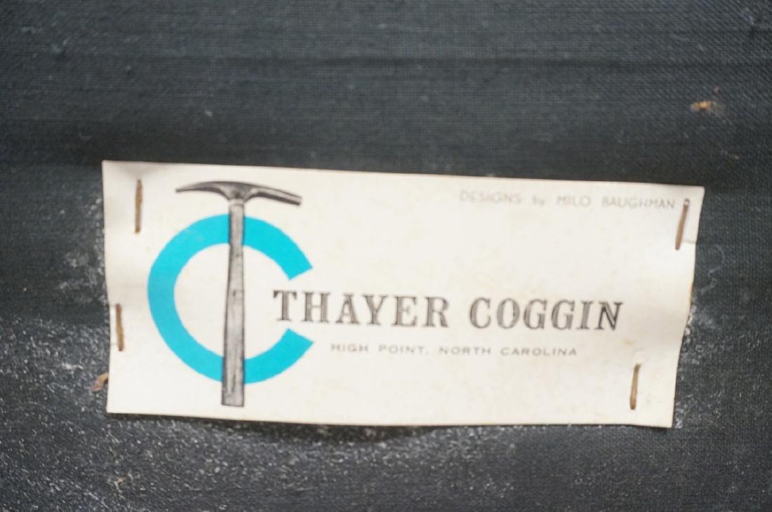 Thayer Coggin Olive Green Vinyl Modern Sofa Couch - 4