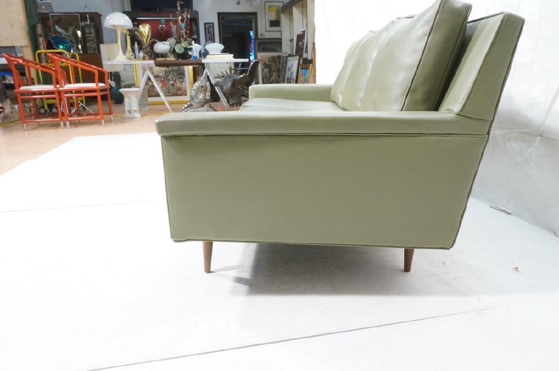 Thayer Coggin Olive Green Vinyl Modern Sofa Couch - 6