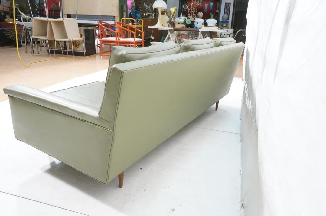 Thayer Coggin Olive Green Vinyl Modern Sofa Couch - 7