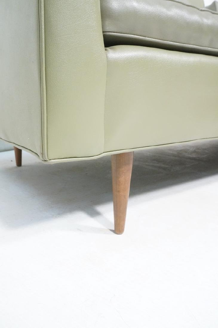 Thayer Coggin Olive Green Vinyl Modern Sofa Couch - 9