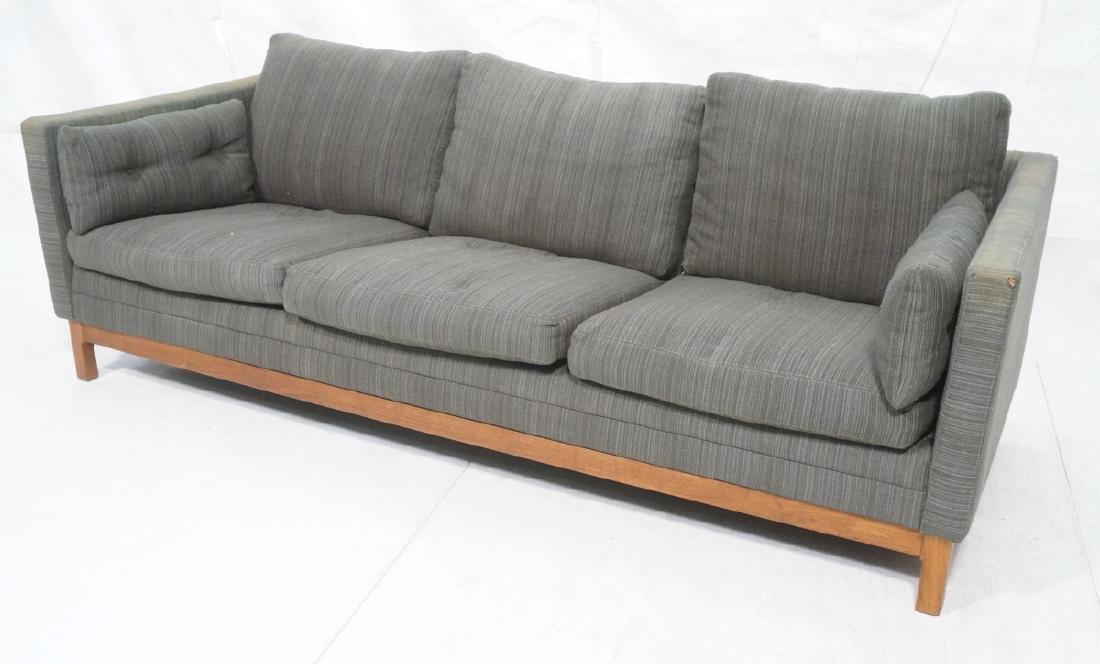 DUX Swedish Modern Sofa Couch Striped Green Fabri