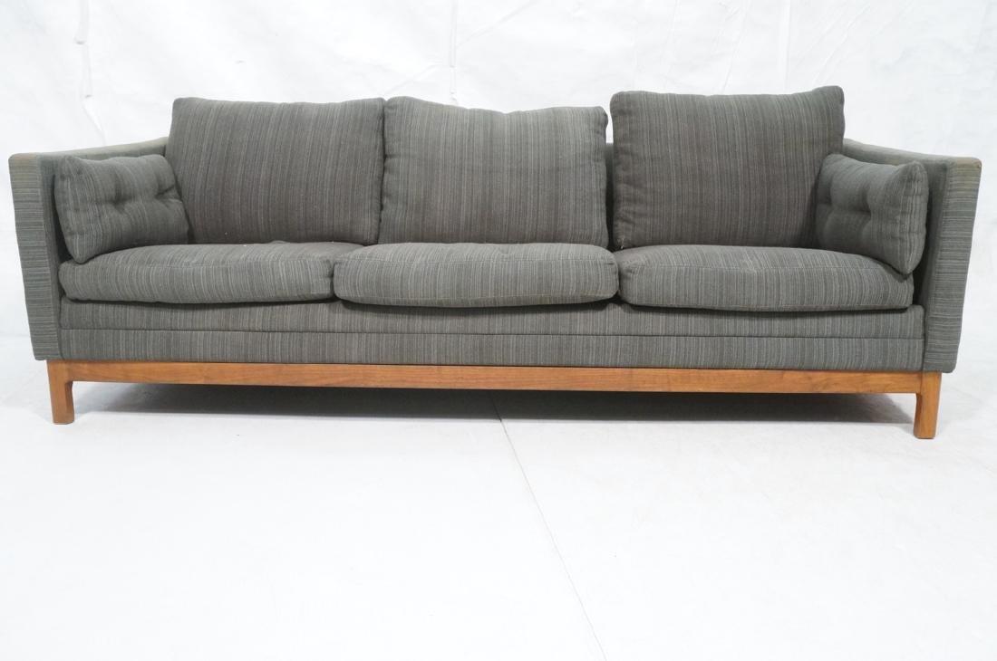 DUX Swedish Modern Sofa Couch Striped Green Fabri - 2