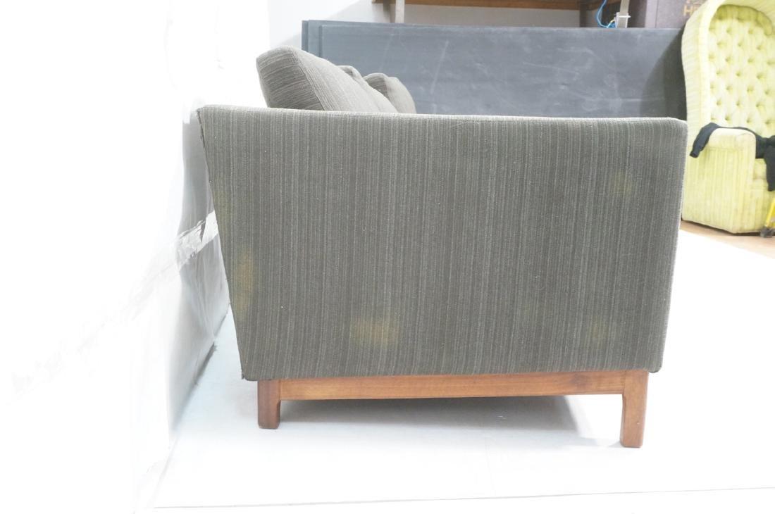DUX Swedish Modern Sofa Couch Striped Green Fabri - 4