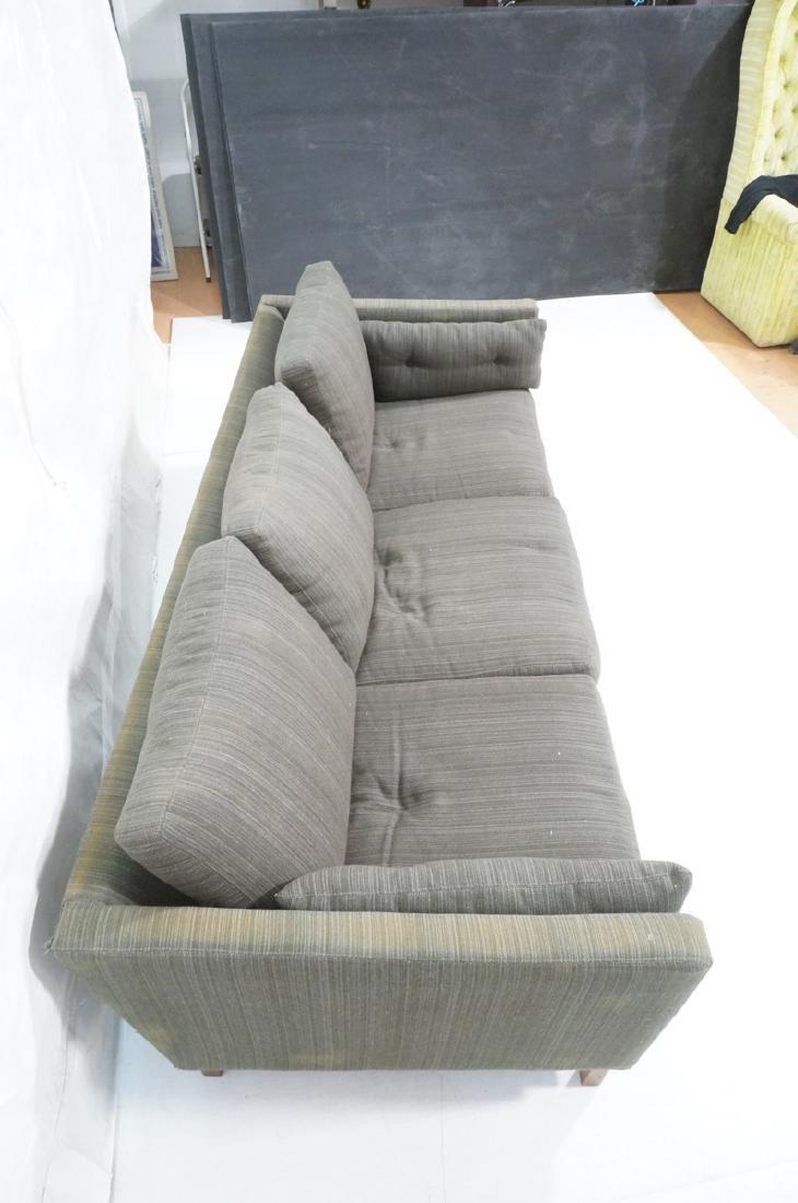 DUX Swedish Modern Sofa Couch Striped Green Fabri - 5