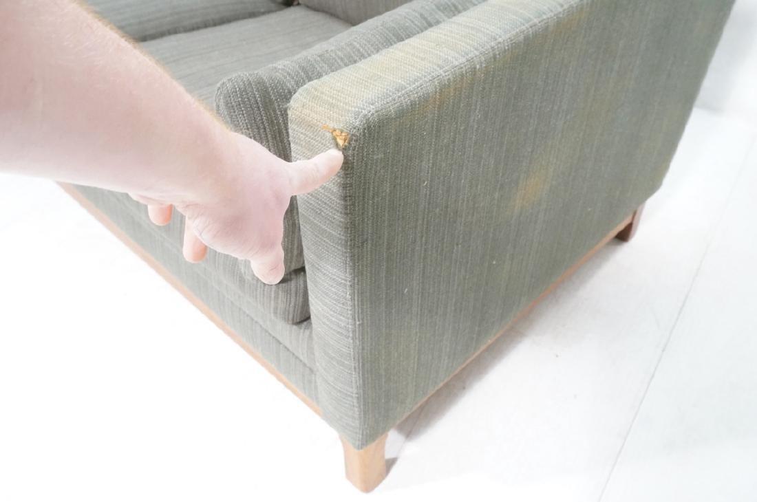 DUX Swedish Modern Sofa Couch Striped Green Fabri - 8