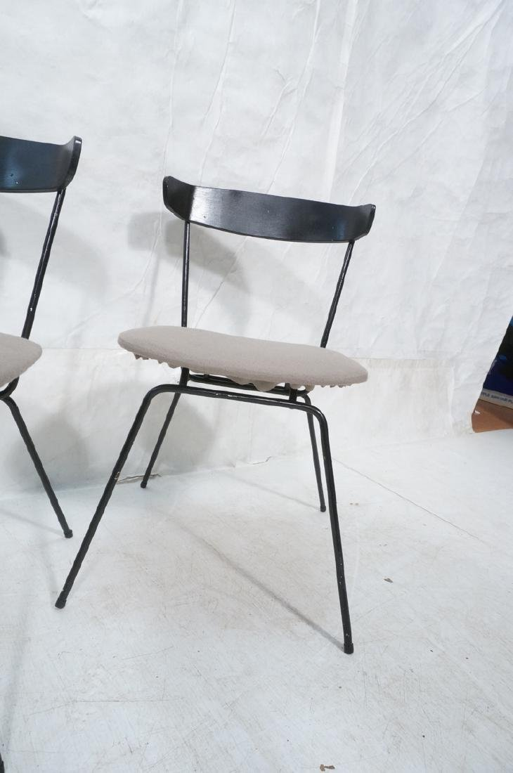 4 PAUL McCOBB Style Black Iron Side Dining Chairs - 2