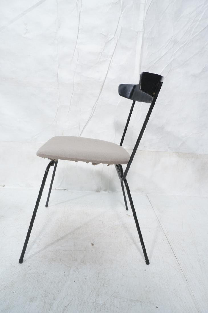 4 PAUL McCOBB Style Black Iron Side Dining Chairs - 4