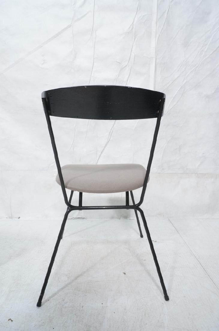 4 PAUL McCOBB Style Black Iron Side Dining Chairs - 5