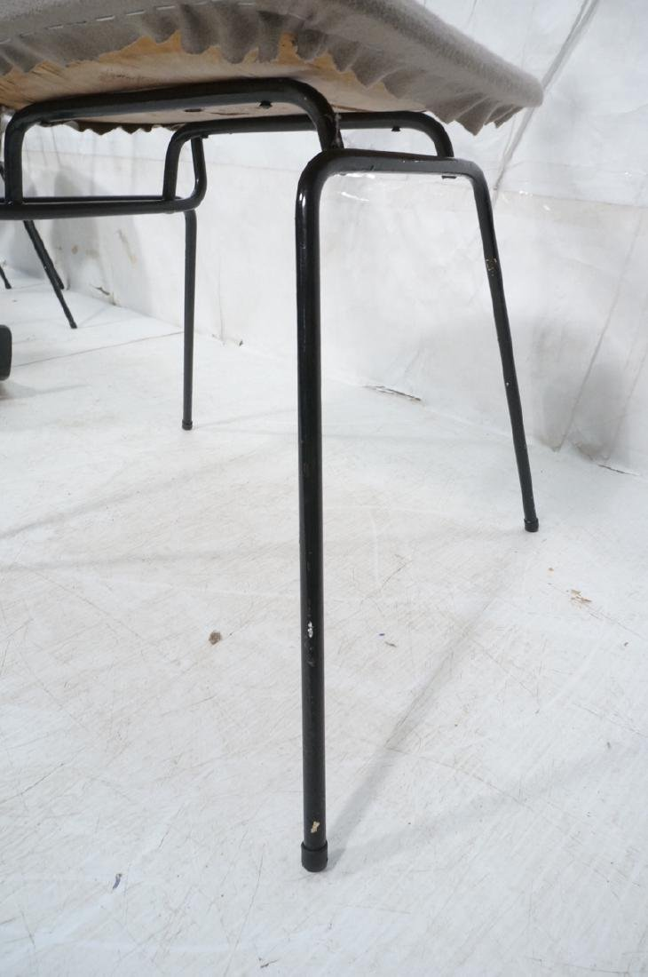 4 PAUL McCOBB Style Black Iron Side Dining Chairs - 7