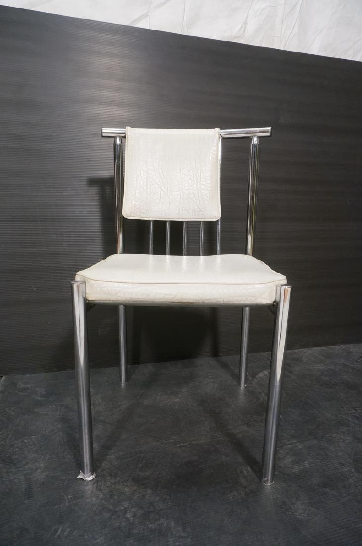 4 Chrome Tube 70s Modern BRODY Dining Chairs. Chr - 2