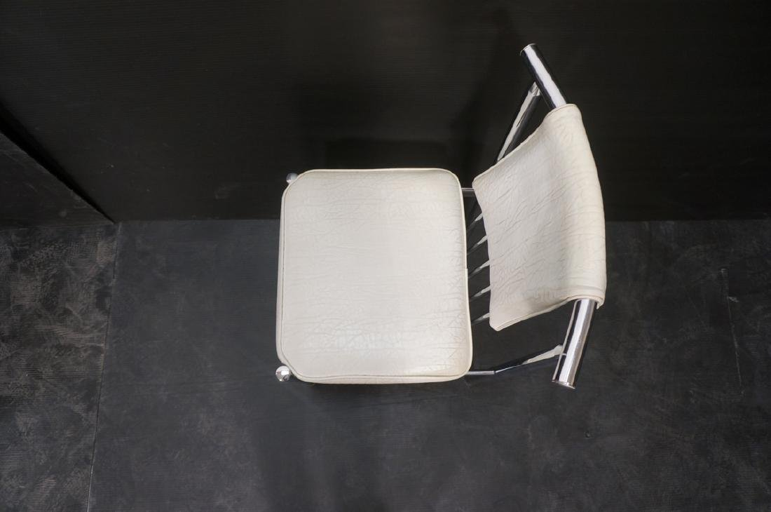 4 Chrome Tube 70s Modern BRODY Dining Chairs. Chr - 4
