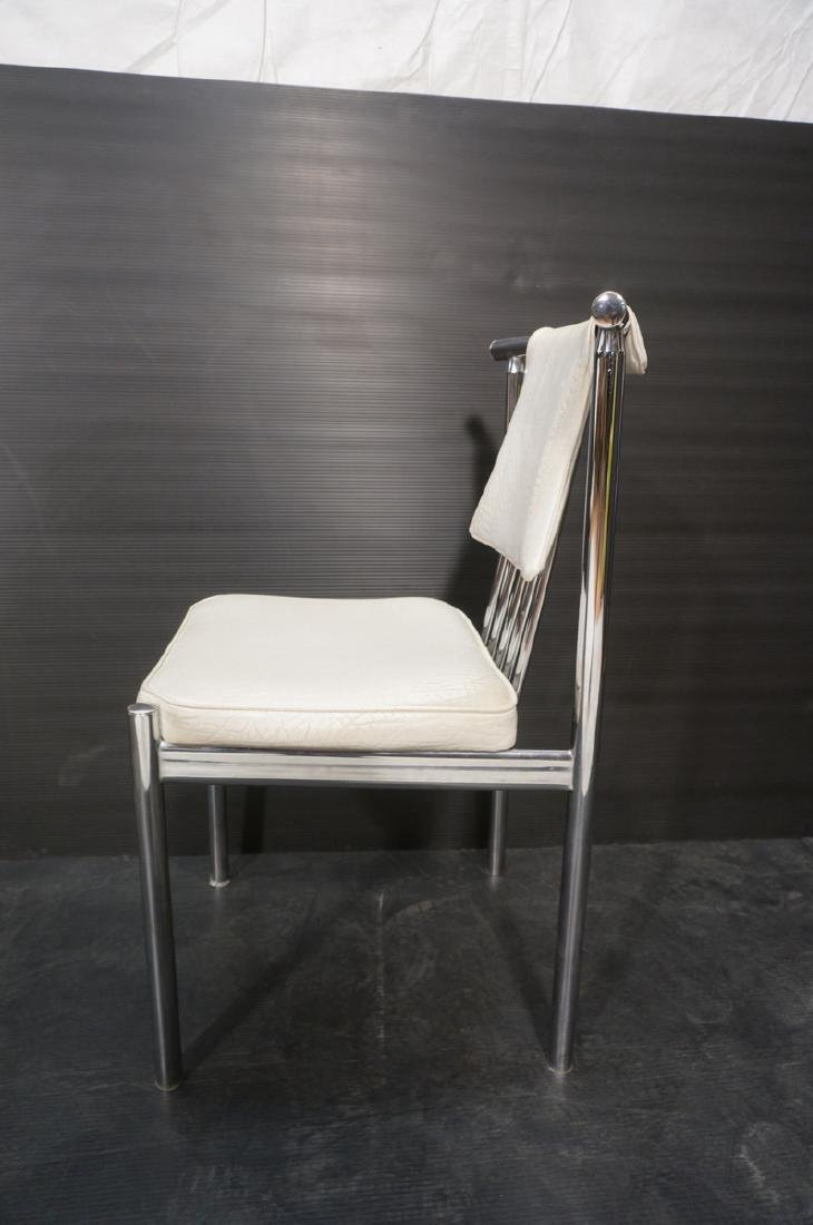 4 Chrome Tube 70s Modern BRODY Dining Chairs. Chr - 5