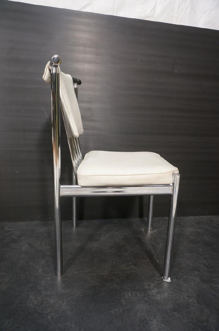4 Chrome Tube 70s Modern BRODY Dining Chairs. Chr - 7