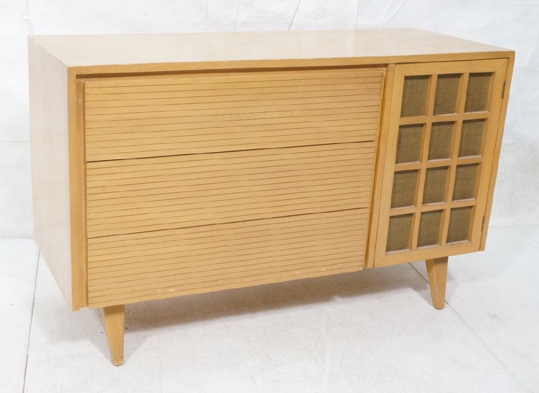 Blond Modern Credenza Sideboard Dresser. 3 drawer