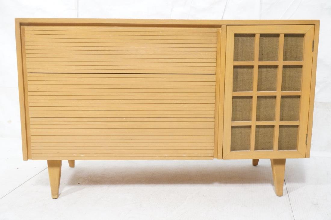 Blond Modern Credenza Sideboard Dresser. 3 drawer - 2