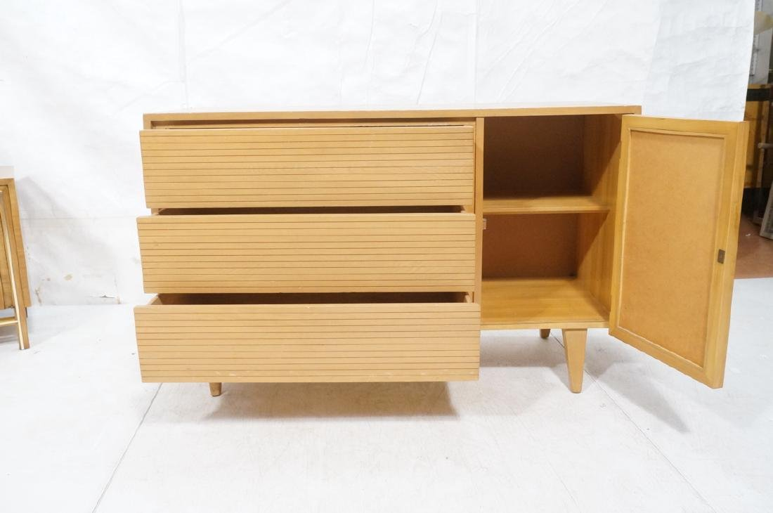 Blond Modern Credenza Sideboard Dresser. 3 drawer - 7