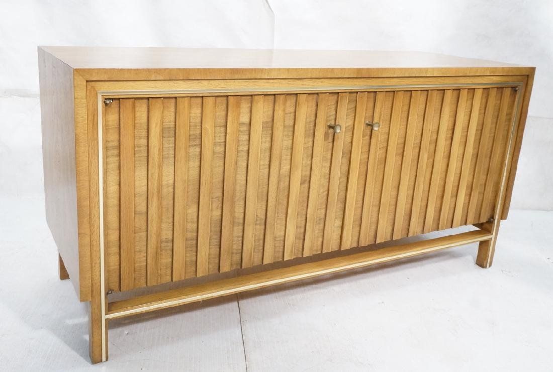 Low 2 Door Cabinet Credenza. Sculptural vertical