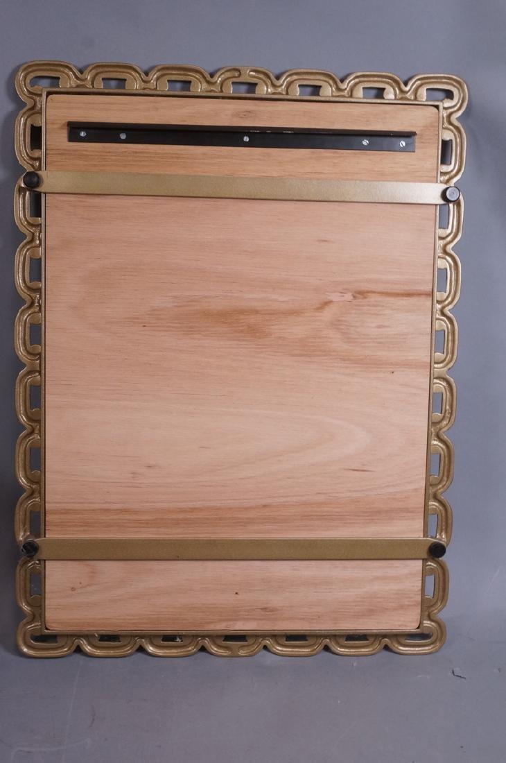 Cast Metal Chain Link Frame Wall Mirror. Matte go - 8