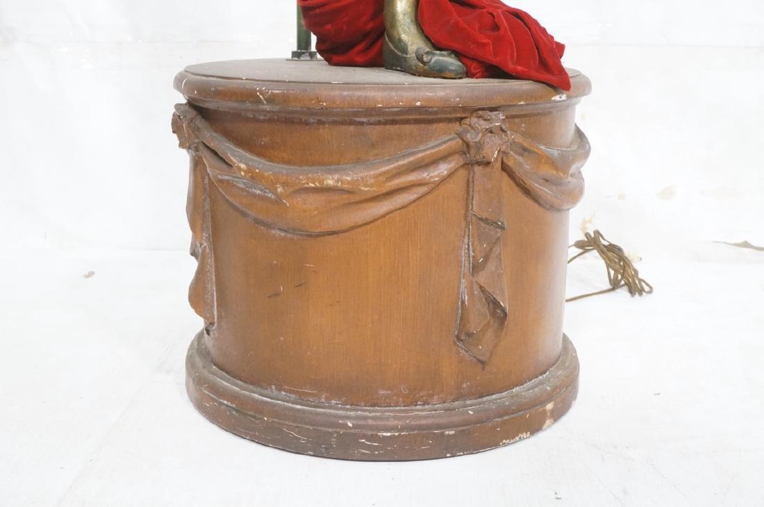 Figural Matador Floor Lamp. Wood drum form base w - 9