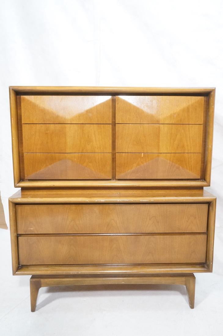 UNITED American Modern Walnut Gentleman's Chest D - 2