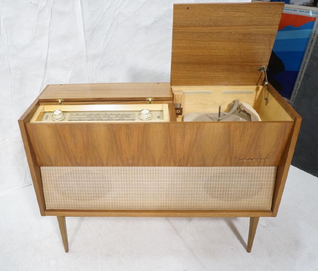 ***GRUNDIG Modern Walnut Case Stereo Cabinet. Bev - 5