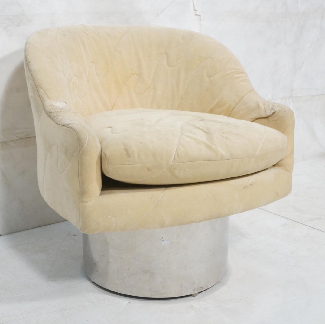 MILO BAUGHMAN Style Modern Lounge Chair. Tall chr