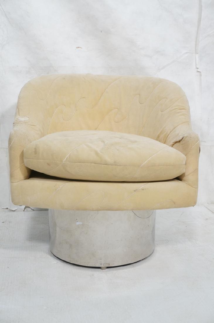 MILO BAUGHMAN Style Modern Lounge Chair. Tall chr - 2