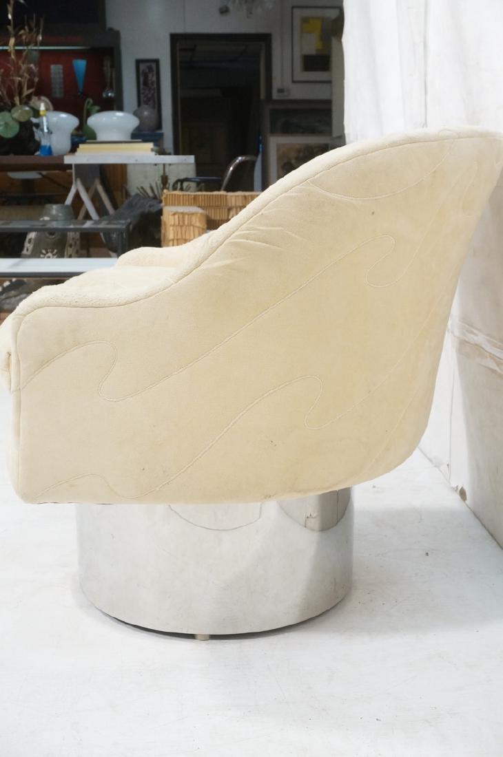 MILO BAUGHMAN Style Modern Lounge Chair. Tall chr - 4