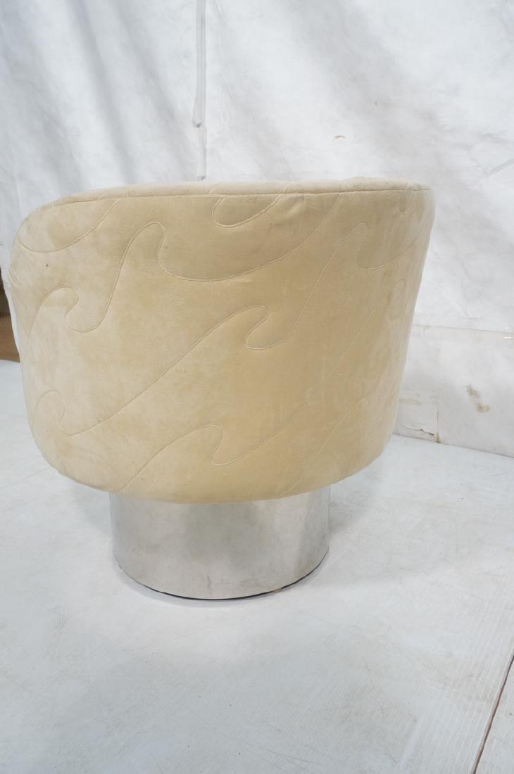 MILO BAUGHMAN Style Modern Lounge Chair. Tall chr - 5