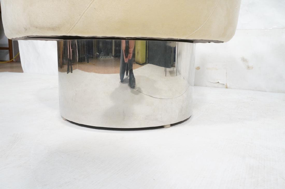 MILO BAUGHMAN Style Modern Lounge Chair. Tall chr - 9