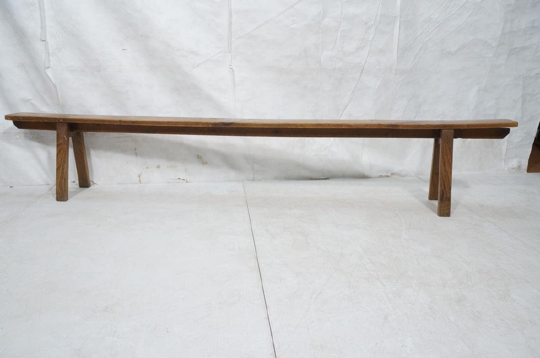 Antique Long Cobbler's Bench. Industrial. Pine to - 2