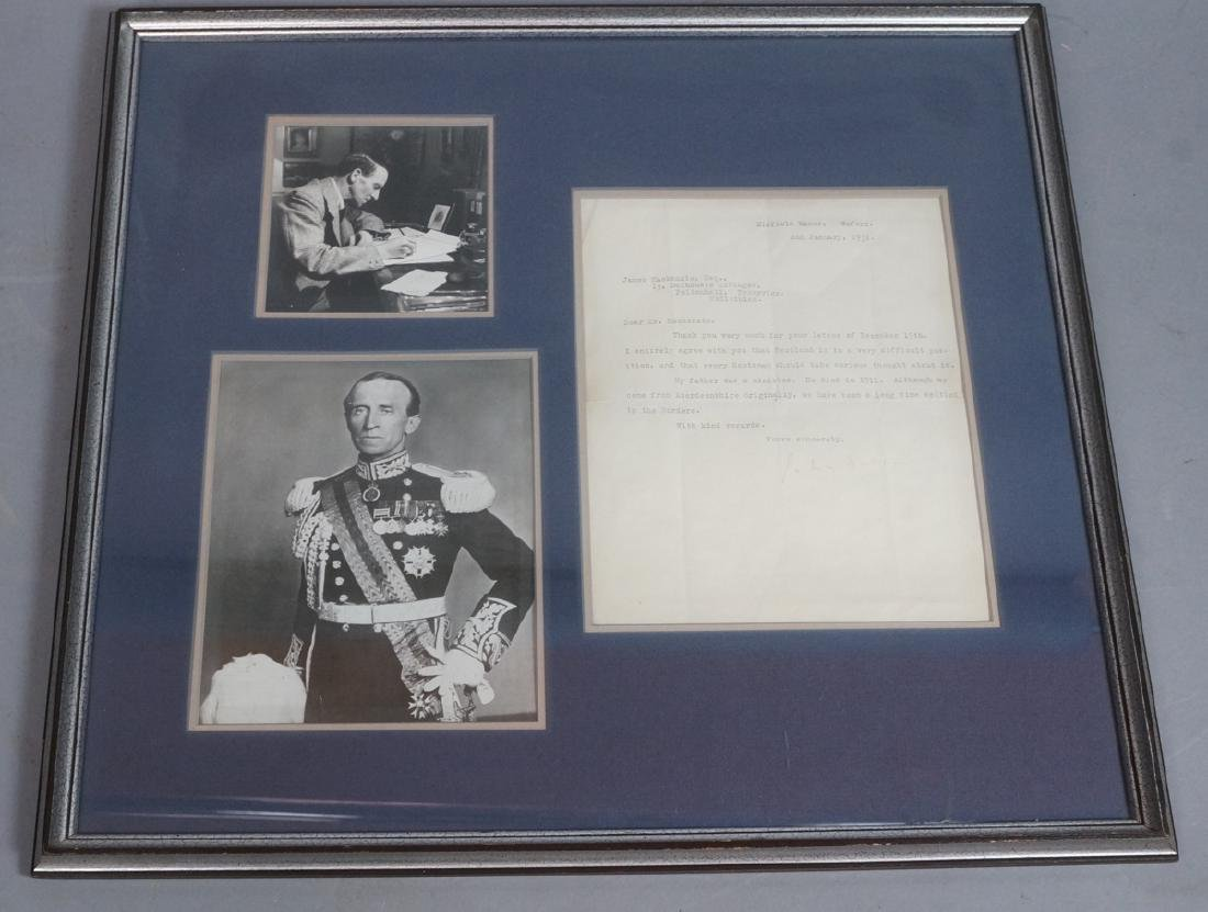 John Buchan Governor General of Canada. 2 Framed