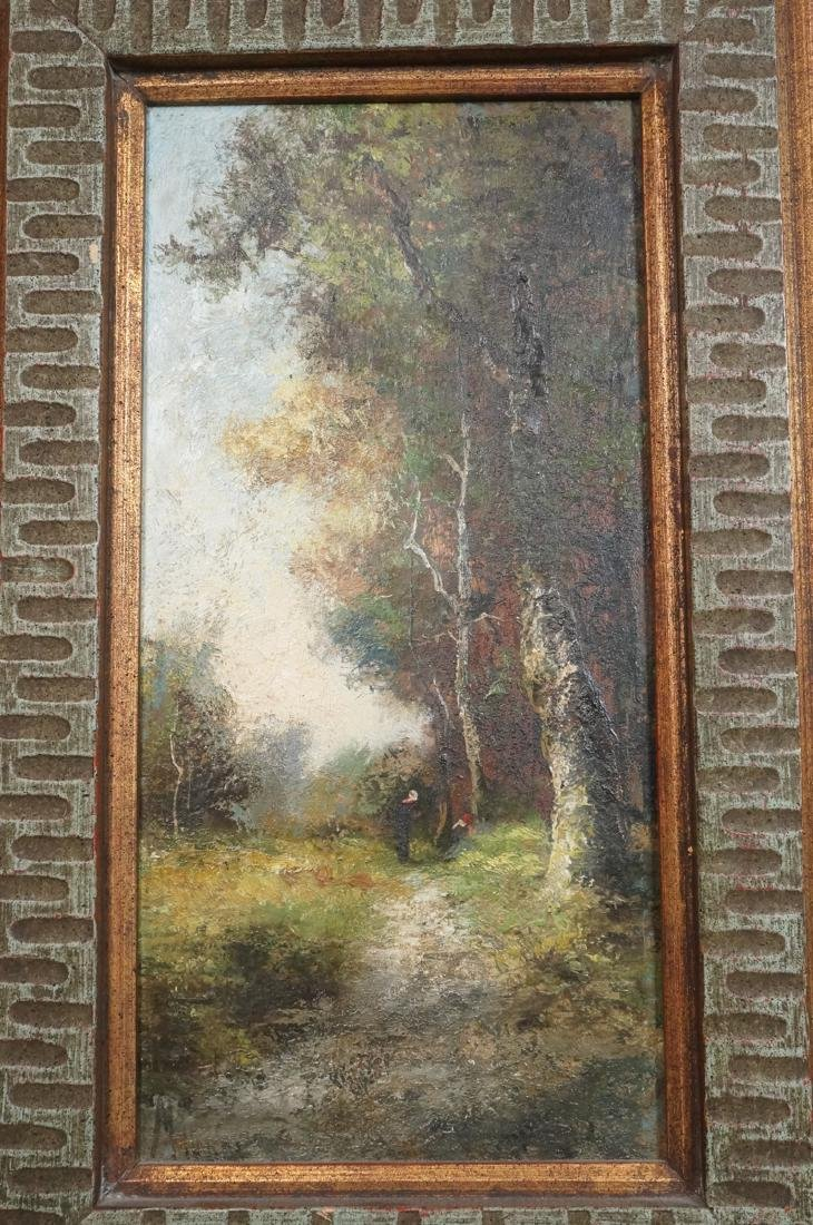 2pc Oil Paintings Landscapes. 1) Signed CARON? Sc - 2
