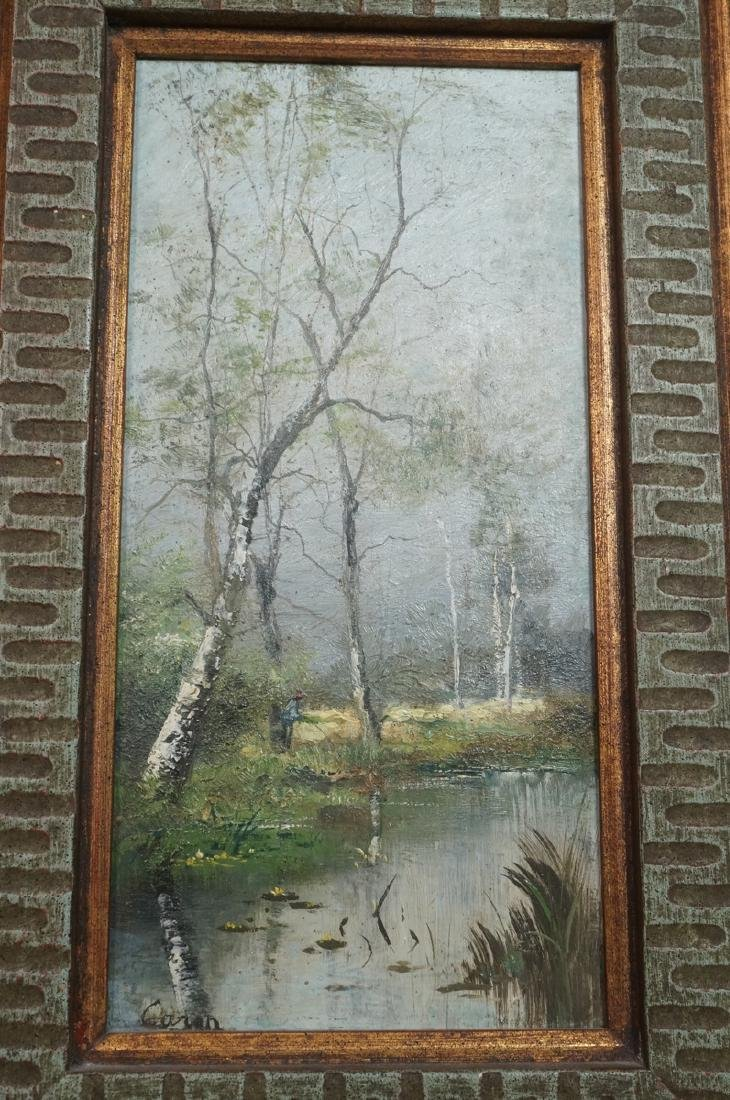 2pc Oil Paintings Landscapes. 1) Signed CARON? Sc - 6