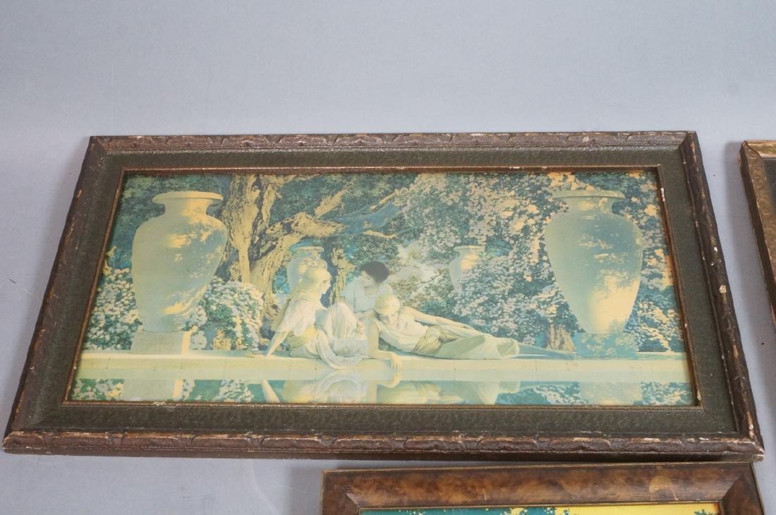 """3 MAXFIELD PARRISH Prints. Vintage Frames. """"Garde - 2"""