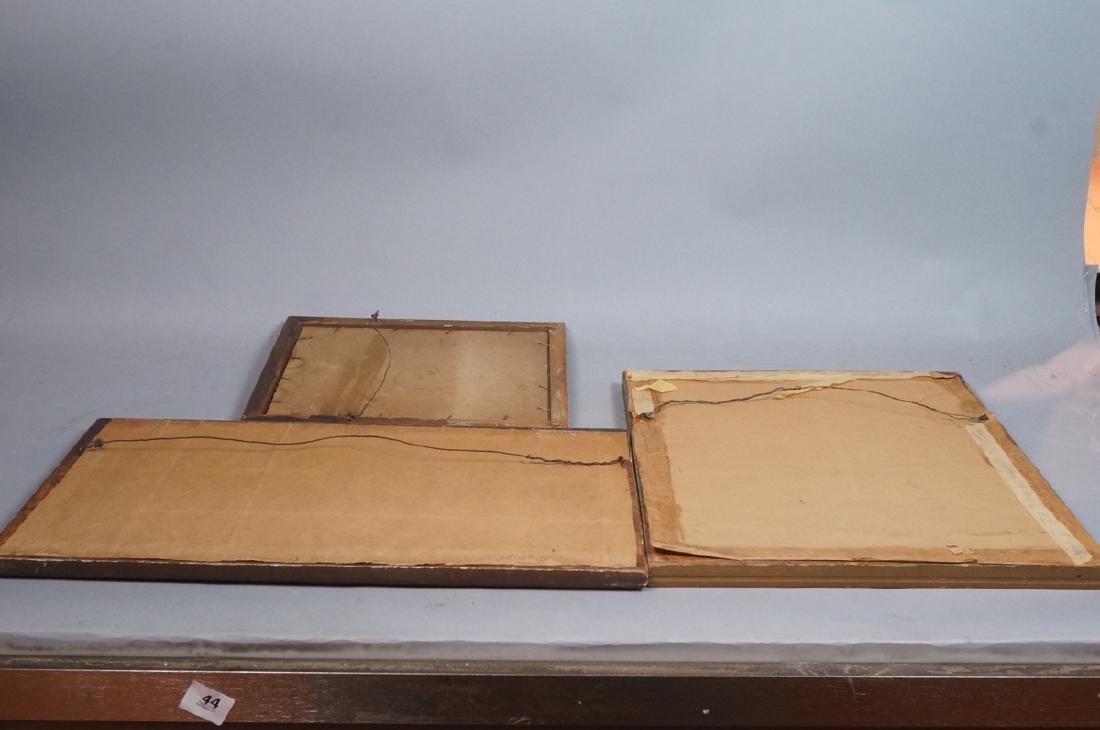 """3 MAXFIELD PARRISH Prints. Vintage Frames. """"Garde - 8"""