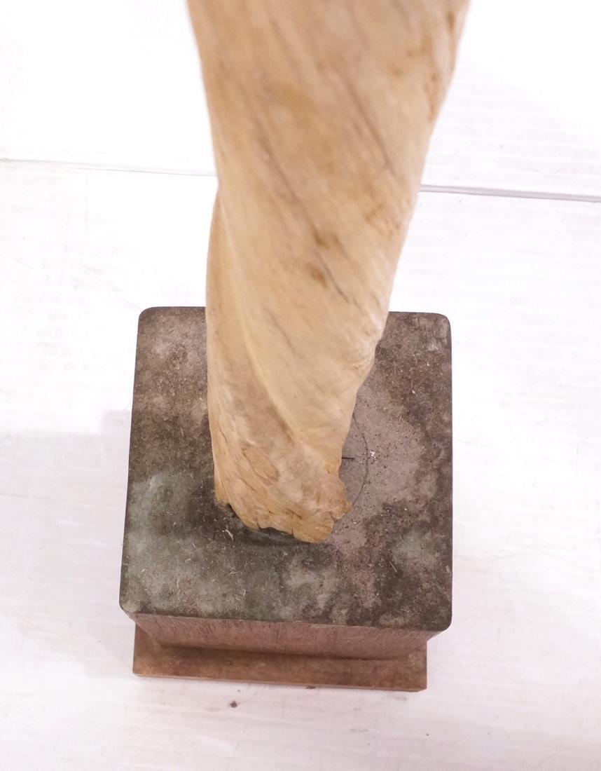"46"" Genuine Narwhal Tusk Mounted Trophy on Wood B - 6"