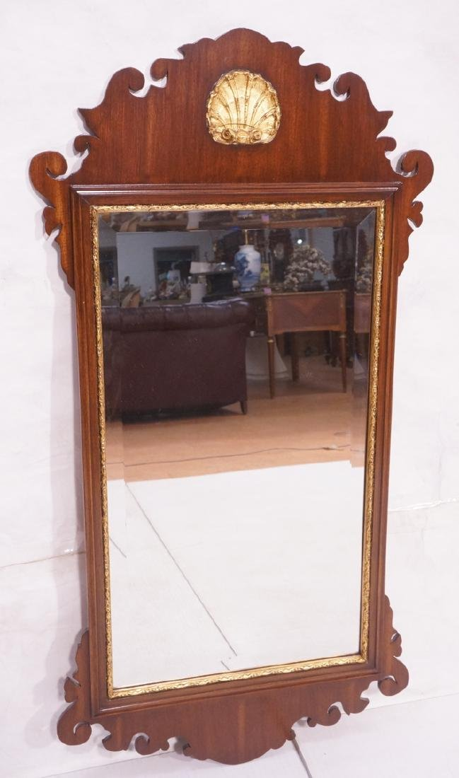 Chippendale Style Mirror. Gold gilt Shell motif.