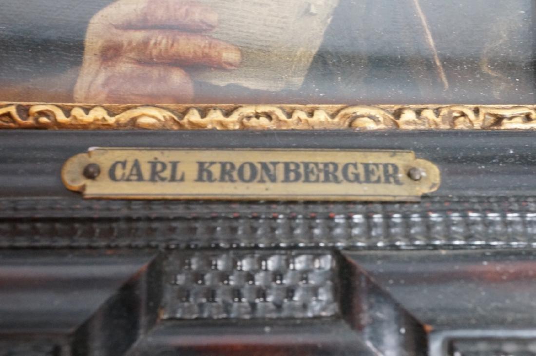 CARL KRONBERGER Oil Portrait of Man with Pipe; pr - 4